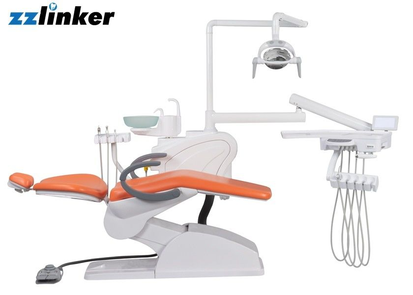 220V 50Hz 0.55Mpa Glass Spittoon Dental Chair Unit